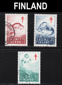 Finland Scott B160-62 complete set F to VF used.