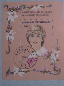 1982 REPUBLIC OF CENTRAL AFRICA 21ST ANNIVERSARY OF LADY DIANA