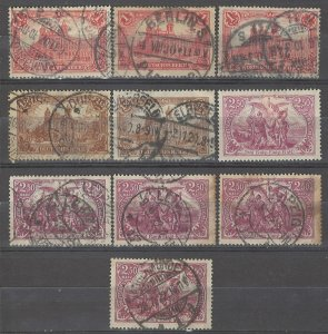 COLLECTION LOT # 4943 GERMANY 10 STAMPS 1920 CLEARANCE CV+$21
