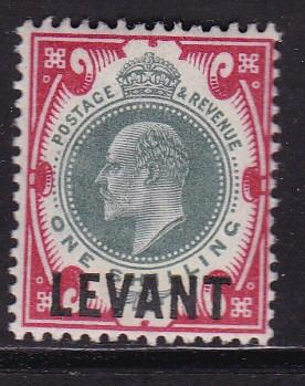 Great Britain 1905 Offices in the Levant GEVII Overprint 1sh  VF/Mint(*)