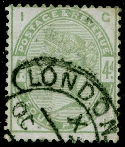 SG192, 4d dull green, USED. Cat £210. GI