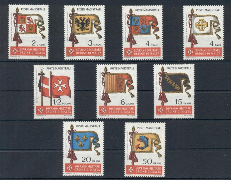 Flags Sovereign Order of Malta 9 MNH stamps set