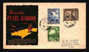 Grenada 1943 Patroitic Cover / Remember Pearl Harbor Cachet - Z18609