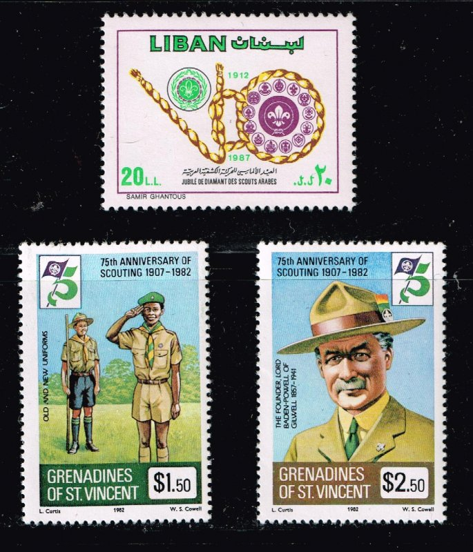 WORLD WIDE Boy Scouts  MNH STAMPS COLLECTION LOT  #6