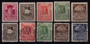 ITALY RODI SCOTT 15-18,20 MINT HINGED OG * AND USED 16-18,21-22 F-VF..