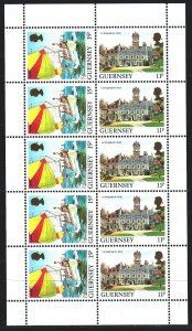 Guernsey. 1985. Small sheet 331A-32A. Tourism, sailboat. MNH.