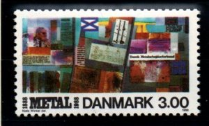 Denmark Sc 858 1988 Metal Workers Union stamp mint NH