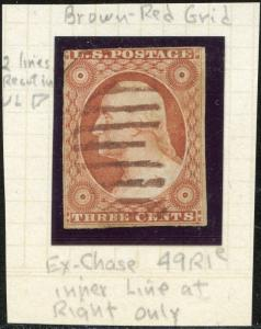 #10 VF USED WITH BROWN CANCEL POS.49R1e EX-CHASE CV $240.00 BP1380