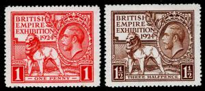 SG430-431, 1924 PAIR, LH MINT. Cat £25.