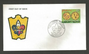 1977 Philippines Boy Scouts Jamboree FDC