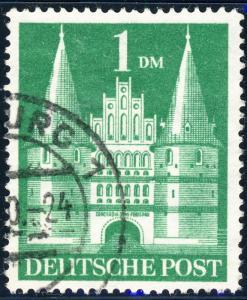 ALLEMAGNE / GERMANY Bizone 1948 Mi.97baYIIG(97.IIeg) 1DM T2 p.14 VF Used (b)