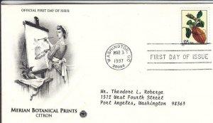 1997, Merian Botanical Prints-Citron, PCS, FDC (D15611)
