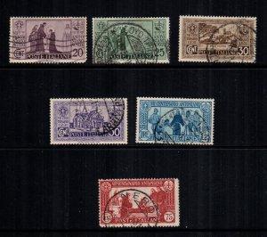 Italy 358 - 363 used cat $32.00