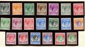 Malaya - Malacca SC# 1-13, 22-6 King George VI set MH
