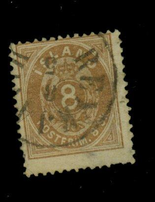Iceland #3 Used Ave-FIne Crease Sm thin Cat$1500