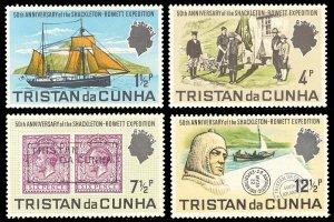 Tristan da Cunha 1971 Scott #153-156 Mint Never Hinged