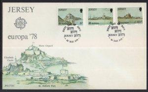 Jersey 187-189 Europa U/A FDC