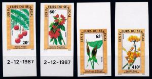 [67285] Senegal 1988 Flora Flowers Blumen Imperf. MNH