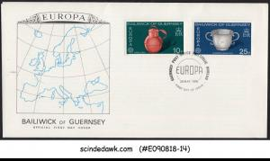 GUERNSEY - 1976 EUROPA / HANDICRAFTS - 2V - FDC