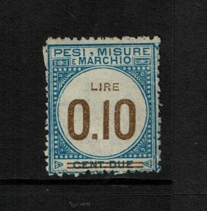 Italy Tassa Lusso E Scambi 1920 Stamp, w/ a period instead of a comma - S6066