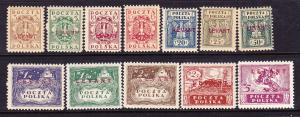 POLISH  PO in TURKEY 1919  SET 12 MH   Sc 2K1/12