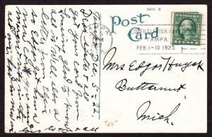 $Florida Machine Cancel Cover, Tampa, 12/5/1922, latest recorded impression