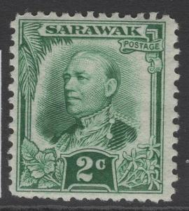SARAWAK SG92 1932 2c GREEN MTD MINT