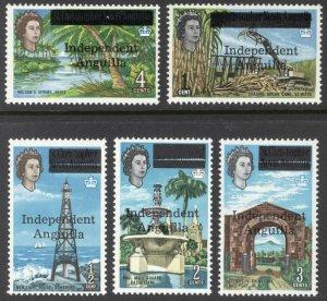 Anguilla 1967 1/2c - 4c Independence SG 1-5 Scott 1-5 UMM/MNH Cat £350($455)