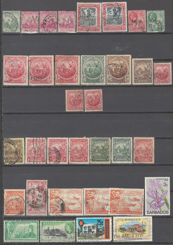 COLLECTION LOT # 2348 BARBADOS 34 STAMPS 1892+  CLEARANCE