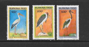 BIRDS - BURKINA FASO #959-61  MNH