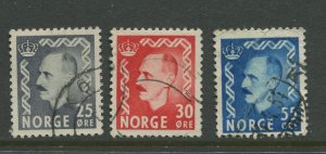 STAMP STATION PERTH Norway #322-324 Definitive Issue 1955 FU