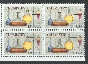 US 1976,Science Chemistry Plate Block ,Scott # 1685,VF-XF MNH**