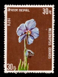 Nepal 1976 Meconopsis grandis Flowers 30p Scott.322 MNH