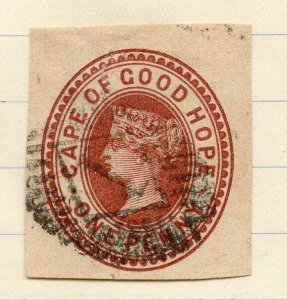 QV 1890s POSTAL STATIONARY PIECE Fine Used 1d. Cape of Good Hope NW-14540