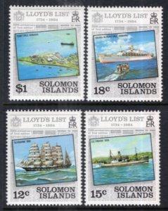 Solomon Islands 521-524 MNH VF