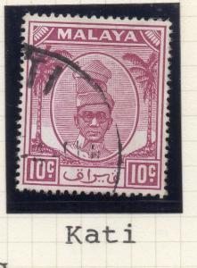 Malaya Perak 1950-55 Early Issue Fair Postmark on Used 10c. 176557