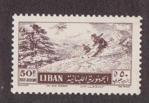 Lebanon # C205, Skiing, Mint LH, 1/2 Cat.