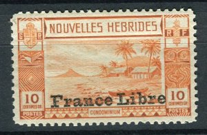 FRENCH; NEW HEBRIDES 1940s FRANCE LIBRE pictorial issue Mint hinged 10c. value