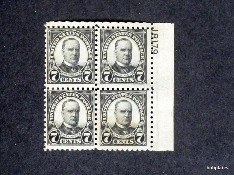 BOBPLATES #588 McKinley Upper Right Plate Block 18179 F+ NH SCV=$425