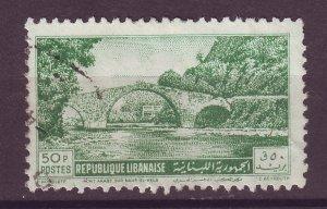 J25490 JLstamps 1950 lebanon hv of set used #242 bridge