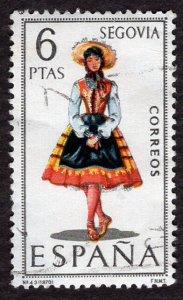 Spain 1970 Regional Women Costumes Segovia 6p. Scott.1434 (#1)
