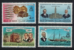 Isle of Man Ships School Museum Manx Pioneers in Cleveland Ohio 4v 1975 MNH