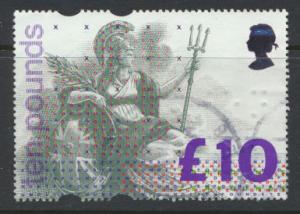 Great Britain SG 1658   Used  - Braile Granite Paper Ten Pounds
