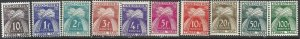 Andorra French 1946-1953 SC J32-J41 Mint SCV$ 193.00 Set