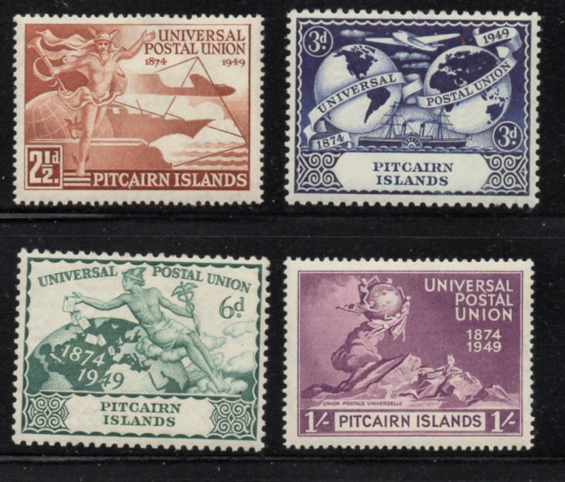Pitcairn Islands Sc 13-16 1949 UPU stamp set mint