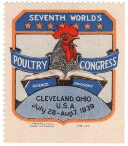 (I.B) US Cinderella : Seventh World Poultry Congress (Cleveland 1939)