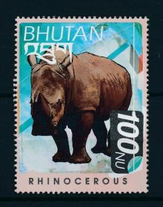 [97715] Bhutan 1999 Wild Life Rhinocerous From Sheet MNH