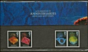1989 CELEBRATION OF ANNIVERSARIES-INCLUDING POSTCARDS  PRESENTATION PACK 198