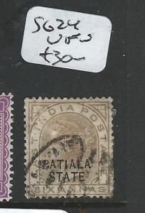 INDIA PATIALA  (PP0404B) QV 6A SG 24   VFU