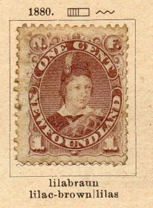 Newfoundland 1880 Early Issue Fine Used 1c. NW-11915